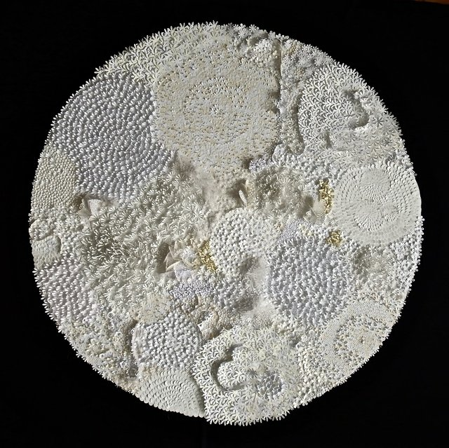 "Rhonda Harder Epp, ""Lichen in White - 1,"" 2015"