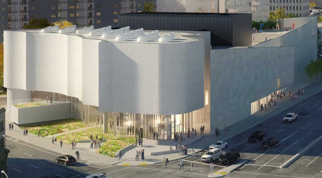 An architectural rendering of Qaumajuq, the Winnipeg Art Gallery's new Inuit art centre, slated to open in February. (courtesy Michael Maltzan Architecture)