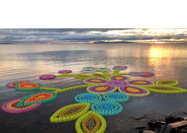 Jean Marshall's beadwork piece