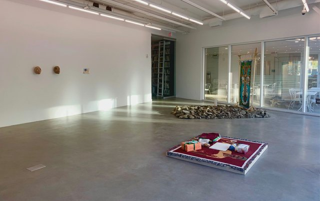 """""""Sovereign Intimacies,"""" 2020, installation view (photo courtesy of Plug In ICA)"""