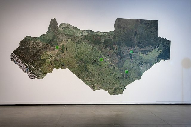 """David LaRiviere, """"Treaty 6 Territory: The Smooth and the Striated,""""2020"""