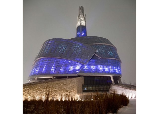 Canadian Museum for Human Rights at Winter Solstice (photo by Aaron Cohen)