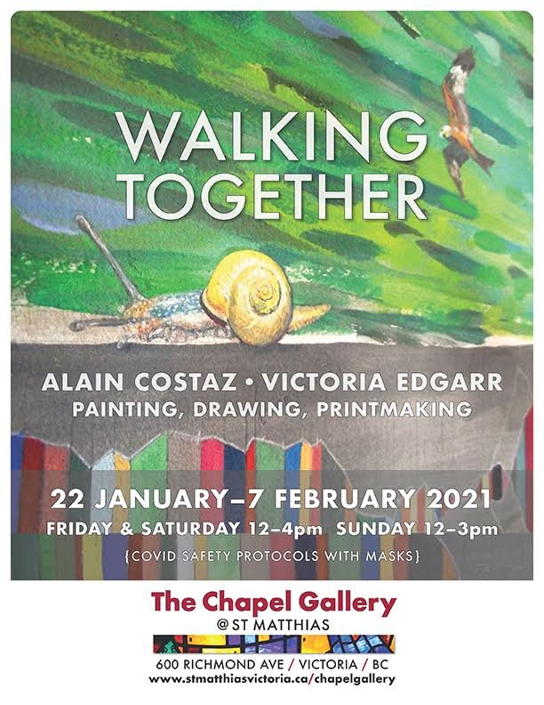 "Alain Costaz and Victoria Edgarr, ""Walking Together,"" 2021"