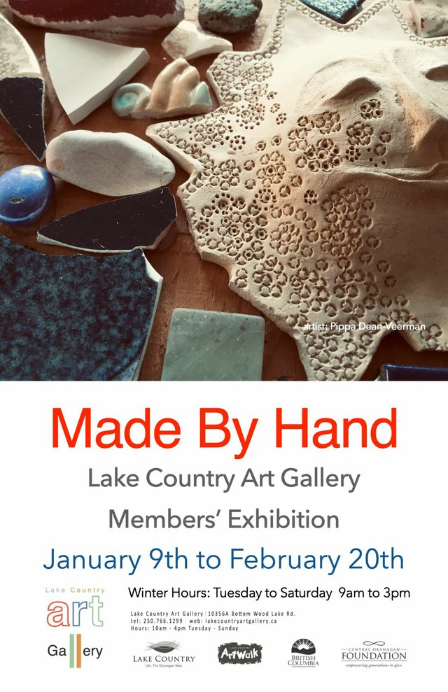 "Lake Country Art Gallery, ""Made By Hand,"" 2021"