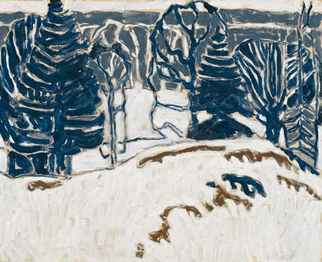 """David Milne, """"Gray Hill,"""" circa 1915-16, oil on canvas, 18"""" x 22"""" (sold at Heffel for $229,250)"""