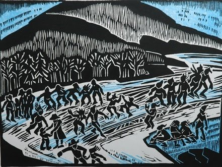 """D. Helen Mackie RCA (1926-2018). """"There Is Ice On The River,"""" 1996"""