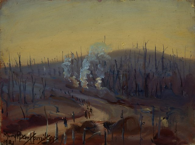 """Mary Riter Hamilton,""""Clearing the Battlefields in Flanders,"""" 1921"""