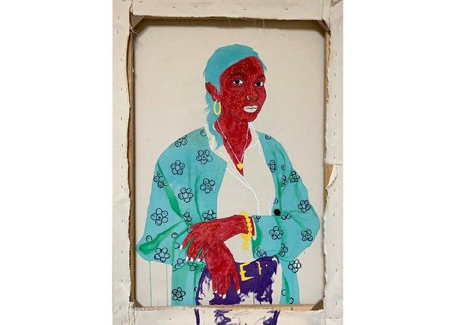 """Chukwudubem Ukaigwe, """"Portrait of Shaneela,"""" 2020"""