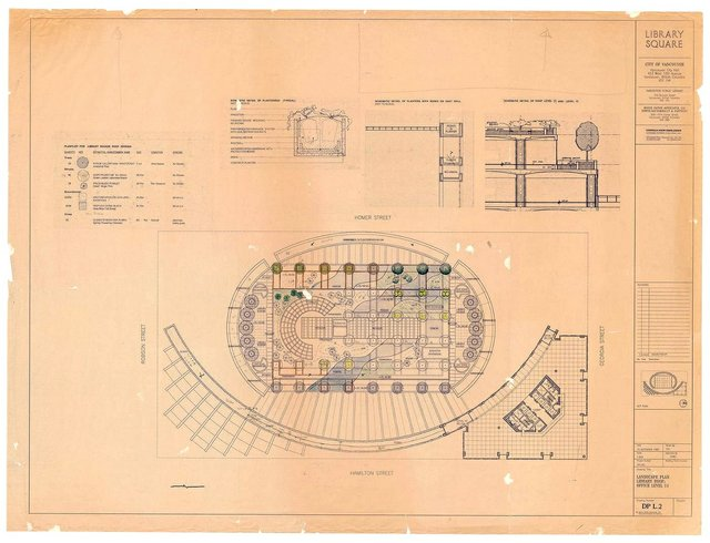 "Cornelia Hahn Oberlander, ""Roof Landscape Plan for Library Square, Vancouver,"" 1992 (gift of Cornelia Hahn Oberlander)"