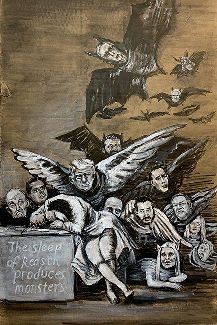 "Betsy Rosenwald, ""The Sleep of Reason (after Goya),"" 2021"