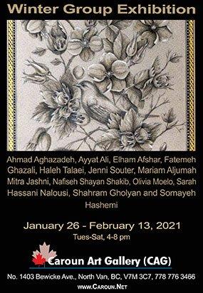 "Caroun Art Gallery, ""Winter Group Exhibition,"" 2021"