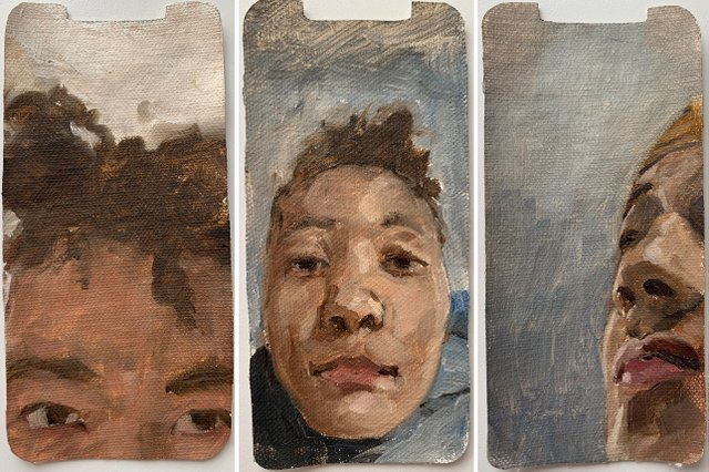 """Braxton Garneau, """"Rial,"""" """"Thea,"""" and """"Tijs"""" (left to right), 2021"""
