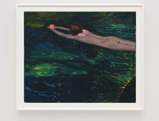 "Damian Moppett, ""Untitled (Green Swimming),"" 202o"