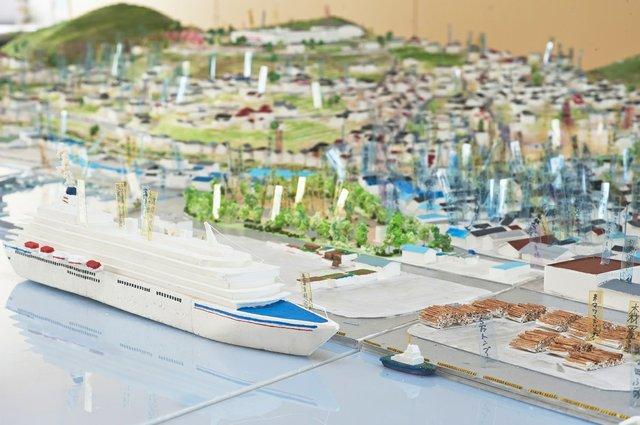 A scale model ofŌfunato City, Iwate Prefecture (photo by Tatsuya Fuji © ︎The Lost Homes Scale Model Restoration Project)