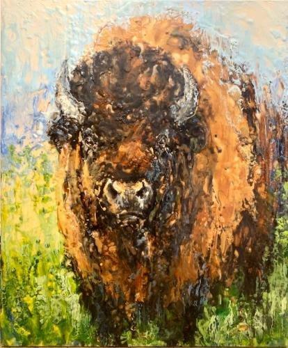 """Kathy Bradshaw, """"Big Bull,"""" 2020"""