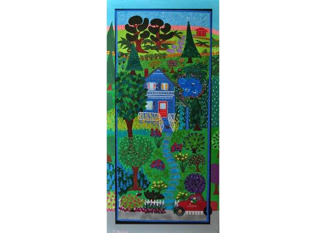 """Hélène Blanchet, """"The Gardener's House,"""" 2013, textile, 39"""" x 19"""""""