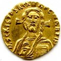The first coin to portray Christ.