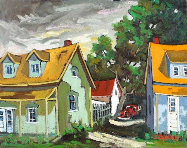 """Claude Simard, """"Entre deux rue St Joseph Baie St Paul #6,"""" n.d."""