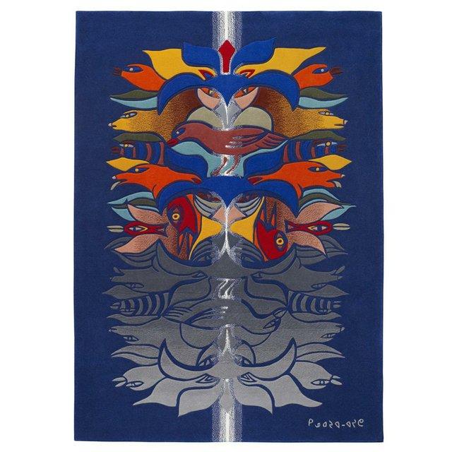 """Kenojuak Ashevak, """"Shaman-Reflections-White Gem,"""" circa 2010"""