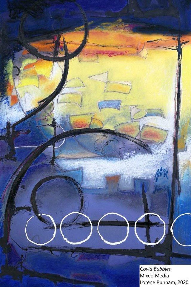 """Lorene Runham, """"Covid Bubbles,"""" 2020"""