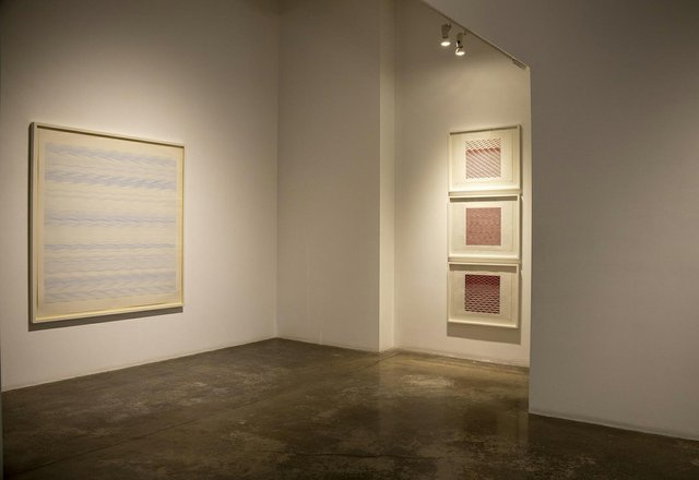"""""""Process,"""" 2021, installation view at the Paul Kuhn Gallery in Calgary showing works by Robbin Deyo"""