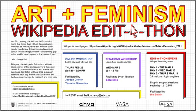 "Alger Liang, ""Art + Feminism Wikipedia Edit-a-thon,"" 2021"