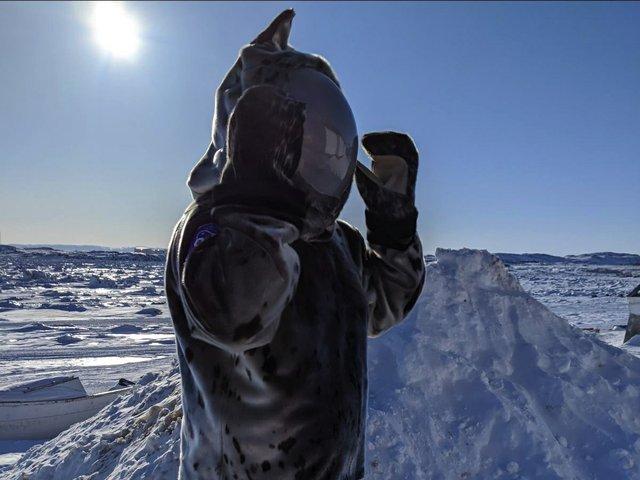 "Jesse Tungilik. ""Seal Skin Spacesuit,"" 2021"