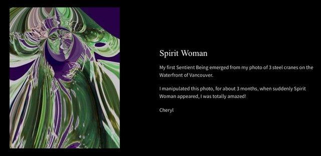 "Cheryl Baker, ""Spirit Woman,"" 2020"