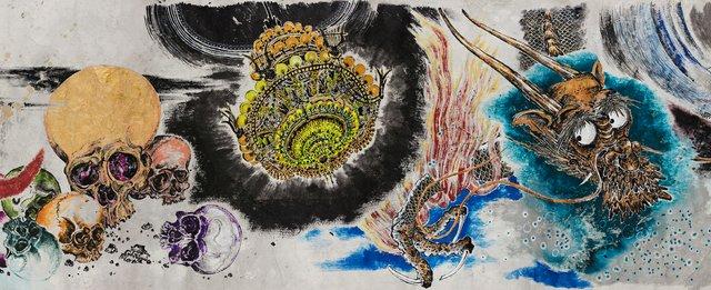 "Sun Xun, ""Mythology or Rebellious Bone"" (detail), 2020"