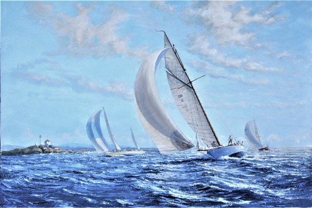 "John Horton, ""Racing Classics Off Trial Island, British Columbia, Canada,"" n.d."