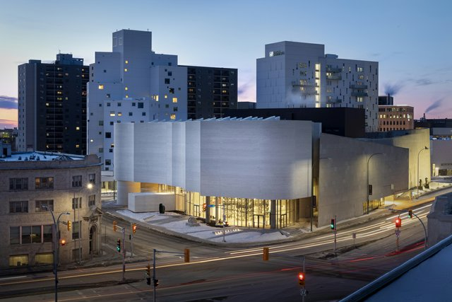 Qaumajuq, the Inuit art centre at the Winnipeg Art Gallery, is designed by Michael Maltzan Architecture with associate Cibinel Architecture. (photo by Lindsay Reid)