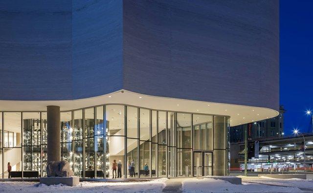 Qaumajuq, the Inuit art centre at the Winnipeg Art Gallery. (photo by Lindsay Reid)