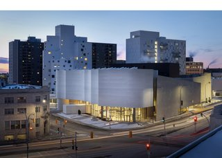 Qaumajuq, the Inuit art centre at the Winnipeg Art Gallery, designed by Michael Maltzan Architecture with associate Cibinel Architecture. (photo by Lindsay Reid)