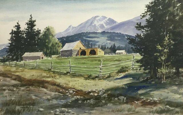 "Don Frache, ""Corral and Barns,"" 1966"