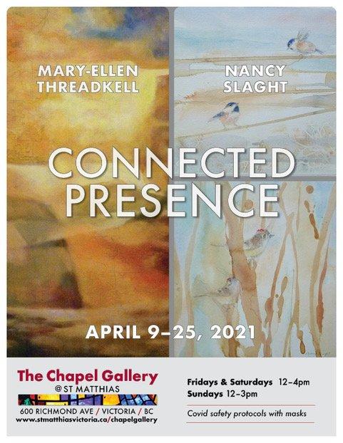 "Mary-Ellen Threadkill and Nancy Slaght, ""Connected Presence,"" 2021"