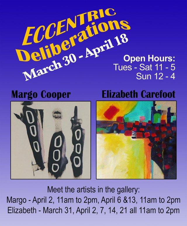 "Margo Cooper and Elizabeth Carefoot, ""Eccentric Deliberations,"" 2021"