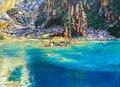 "Lisa Figueroa, ""Grandpa's Sparkling Glacier Blue Eyes, Eva Lake, Revelstoke National Park,"" 2021"