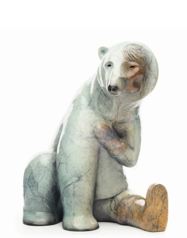 "Terresa White, ""Woman Transforming into a Bear,"" 2020"
