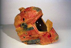 """Hockey mask with beeswax"""