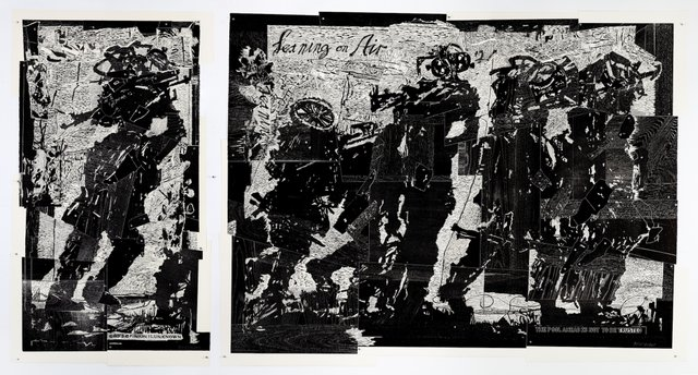"William Kentridge, ""Triumphs and Laments: Refugees (1 God's Opinion is Unknown; 2 Leaning on Air),"" n.d."