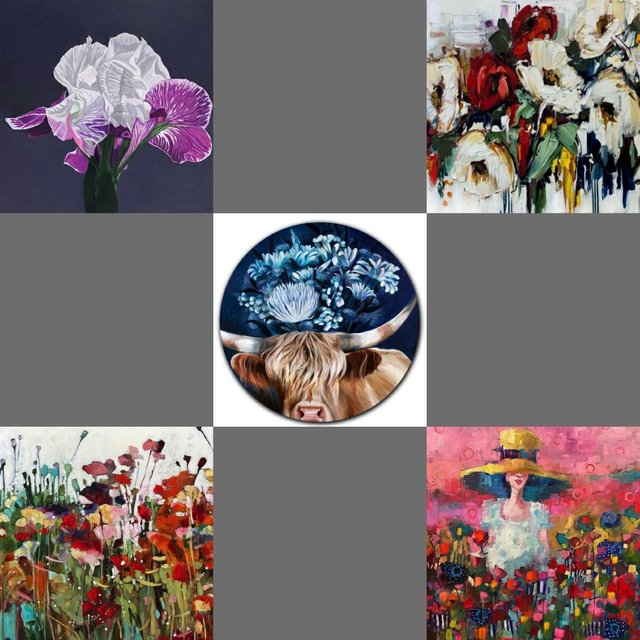 """Assiniboia Gallery, """"The Flower group show,"""" 2021"""