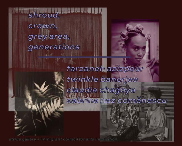 "Stride Gallery, ""Shroud, Crown, Grey Area, Generations,"" 2021"