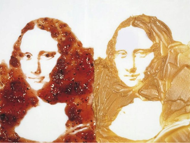 "Vik Muniz, ""Double Mona Lisa, After Warhol, (Peanut Butter + Jelly),"" 1999"