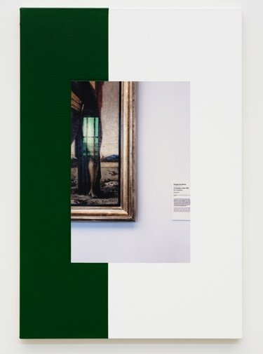 """Ian Wallace,""""Abstract Composition (with de Chirico),"""" 2011"""