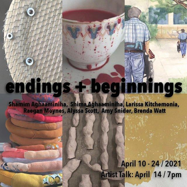 "University of Regina MFA exhibition, ""endings + beginnings,"" 2021"