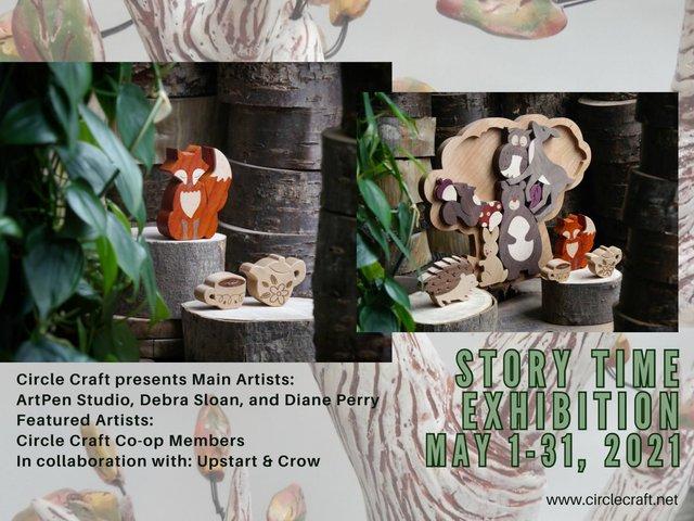 "ArtPen Studio, Debra Sloan, Circle Craft Co-operative, ""Story Time,"" 2021"