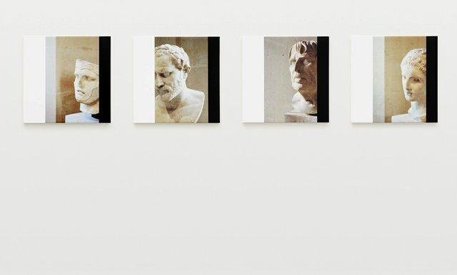 """Ian Wallace, """"Roman Heads I–IV,"""" 1990/2015"""