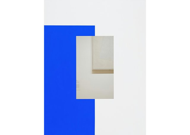 """Ian Wallace, """"Abstract Painting (Blue on White),"""" 2011"""