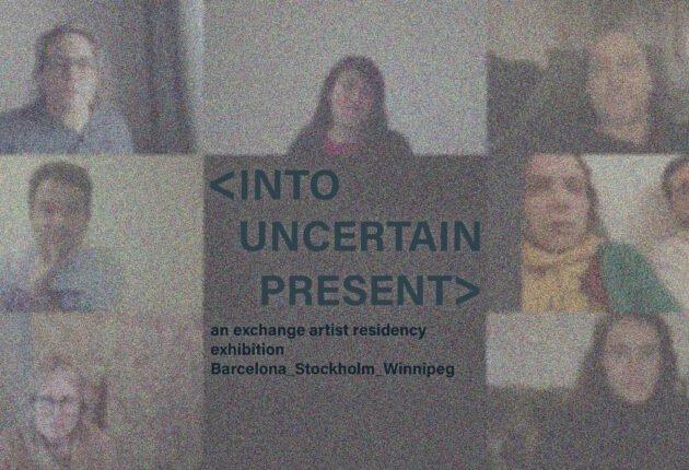 """Platform centre, """"Into Uncertain Present,"""" 2021"""