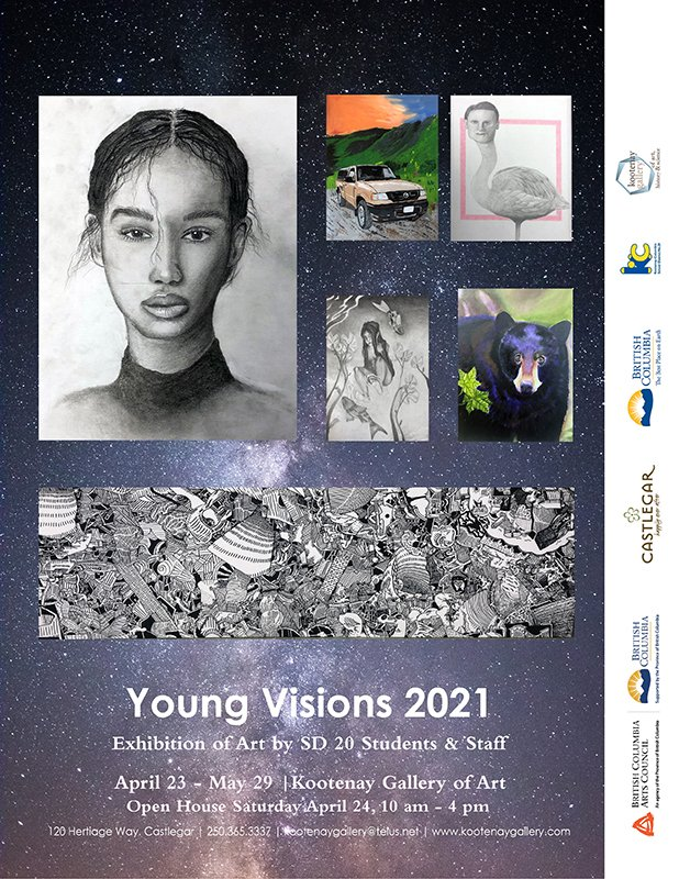 """Kootenay Art Gallery, """"Young Visions 2021,"""" 2021"""
